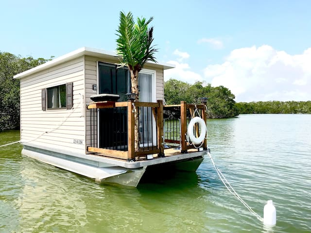 The Shark Pup - Get Away on a Houseboat at Anchor