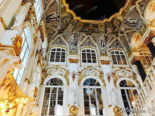 Уютная комната в Центральном районе - белый гранж - Sankt-Peterburg - Apartamento