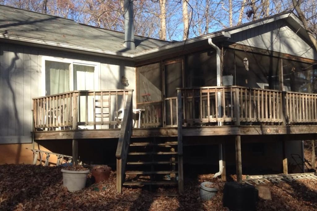 View of deck and rear house.