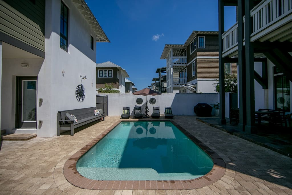 Just outside is a beautiful 22' x 12' Private Heated Pool with plenty of lounging space