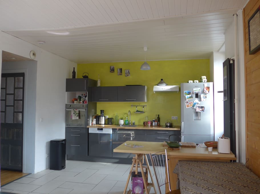 The kitchen is open to the lounge. A nice small balcony accessible from the kitchen