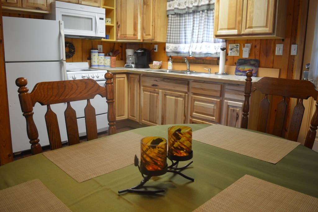 All the comforts of home provided for you in the kitchen. You bring the food or catch of the day!