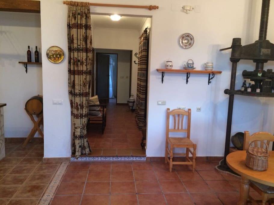 Salón/cocina, acceso habitaciones