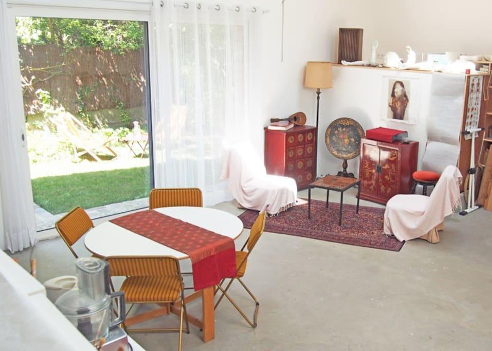 Espace salon-salle à manger