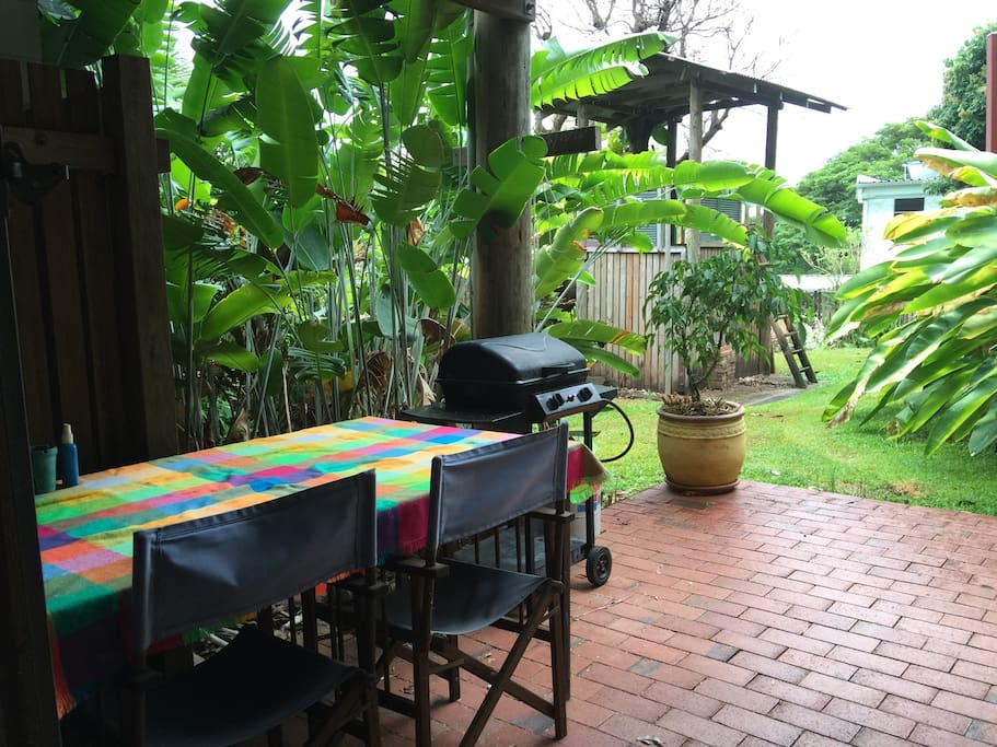 Private undercover outdoor BBQ & sitting area