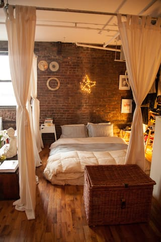 Cosy and charming studio loft with rooftop view - Brooklyn - Loft