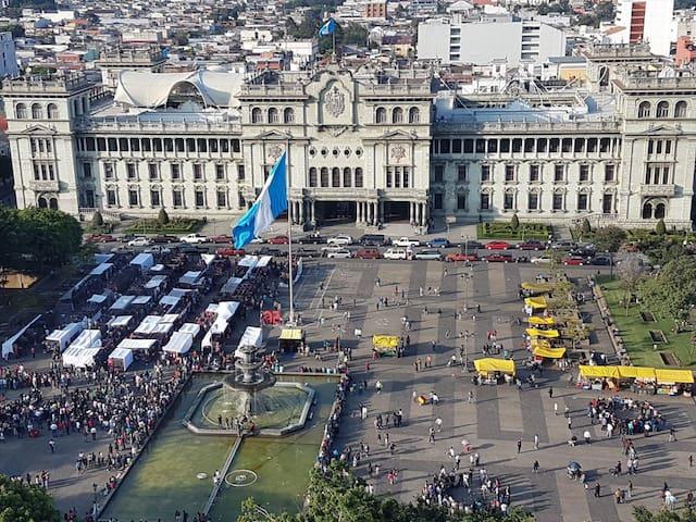 Amazing view towards Guatemalan Presidential House
