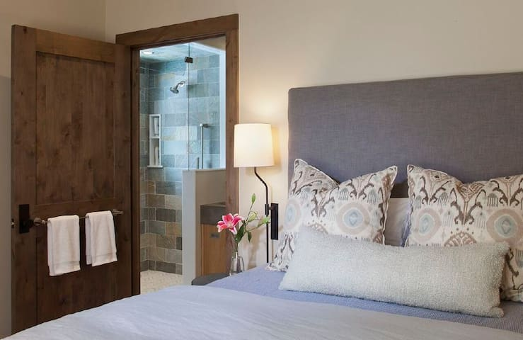 Junior master suite with Queen bed and private bath.