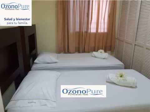 Confortable 100% Sanitizada y desinfectada, Centro