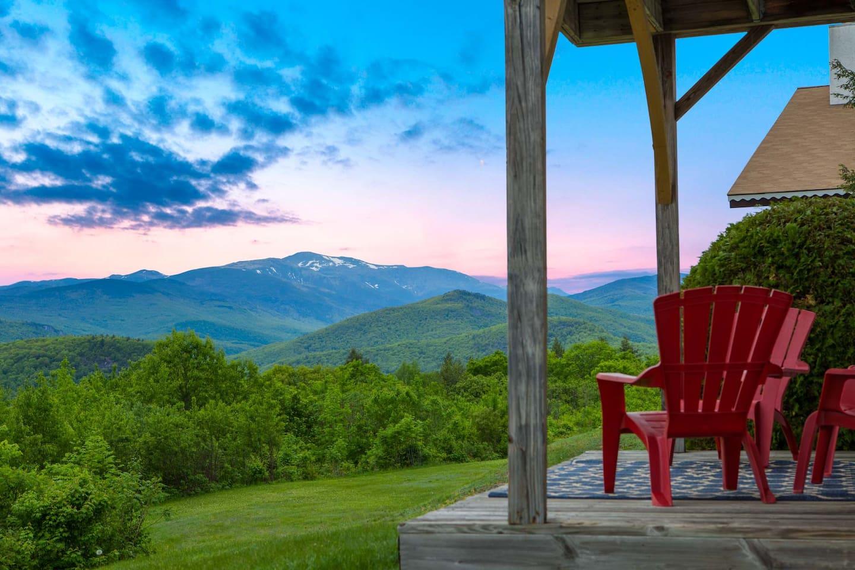 Enjoy the sunset views over Mt Washington