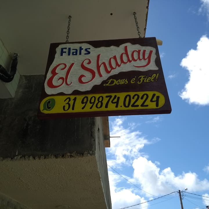 Flats, Suites El Shaday. Perto do centro e Praia.
