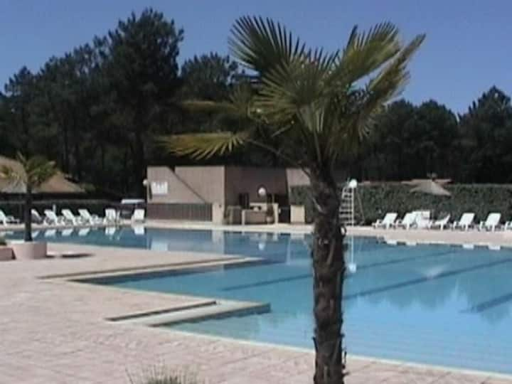 Chalet Bassin d 'Arcachon/piscine