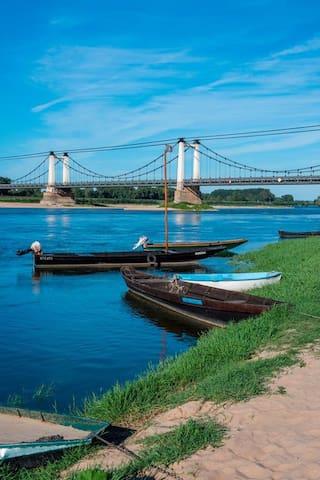 Village en bord de Loire