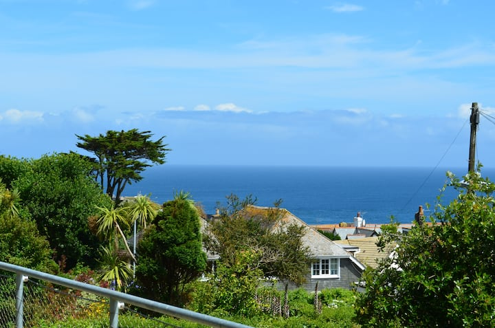 St Ives Home with a View and parking