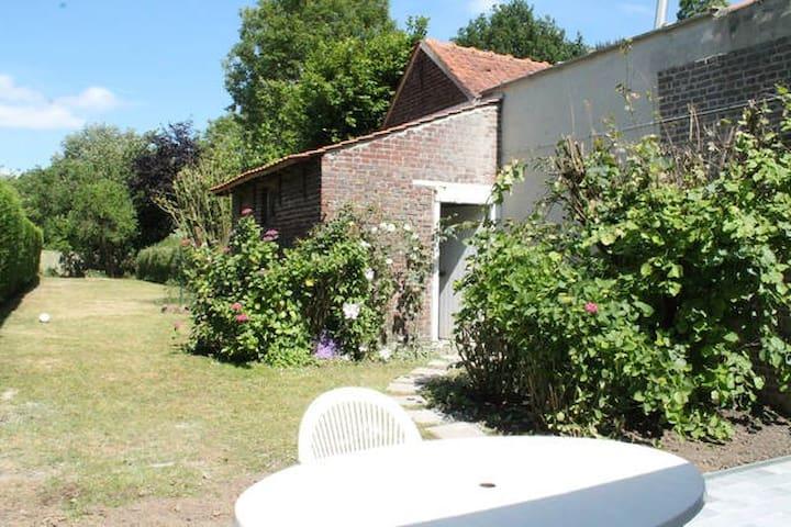 Chambre côté jardin 5min Lille - Saint-André-lez-Lille - Rumah