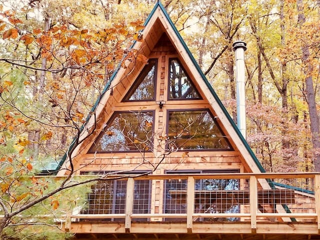 A-Frame Cabin Escape in GW Natl Forest Lost River