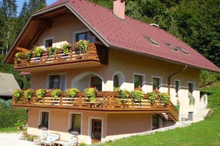 Apartment with excellent view of the mountains - Podkoren - Apartamento