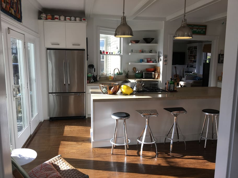 Kitchen with view to back porch