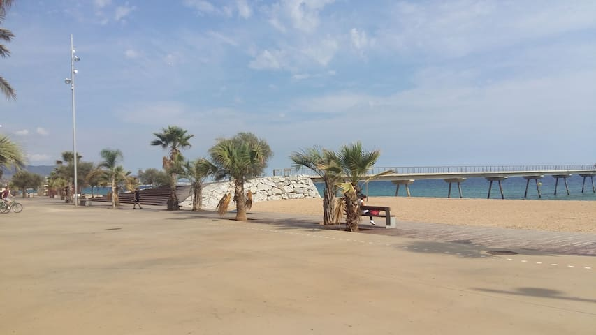Conf. room in front of the beach, great location - Badalona - Apartemen