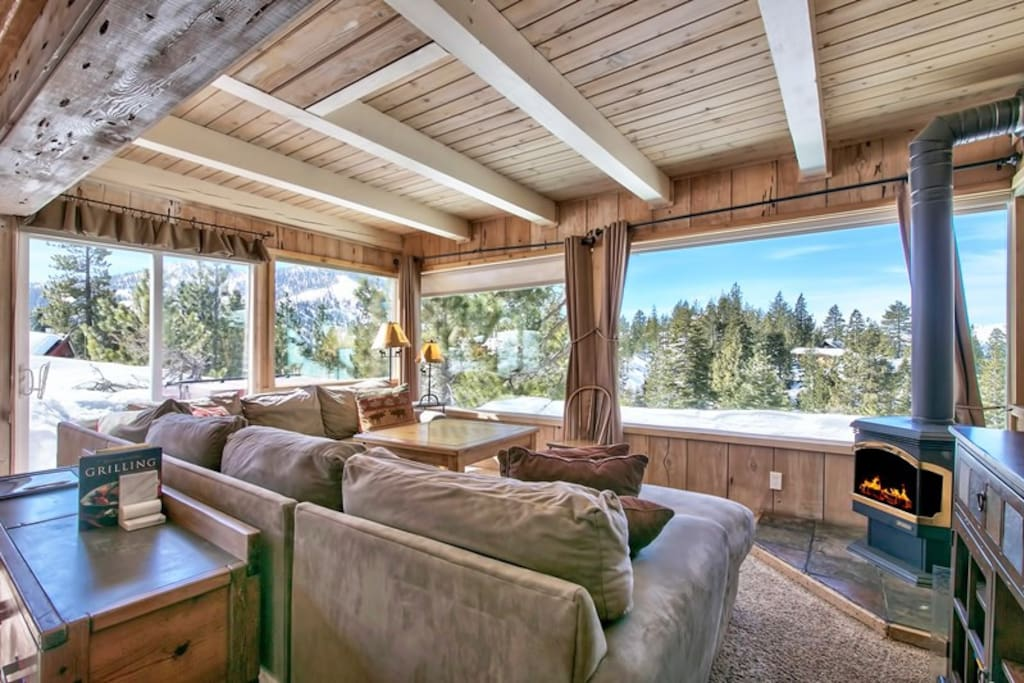 Amazing views of Lake Tahoe throughout the house