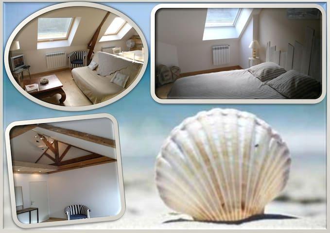 Appartement 75m² lumineux & spacieux vue mer - Étel - Apartament