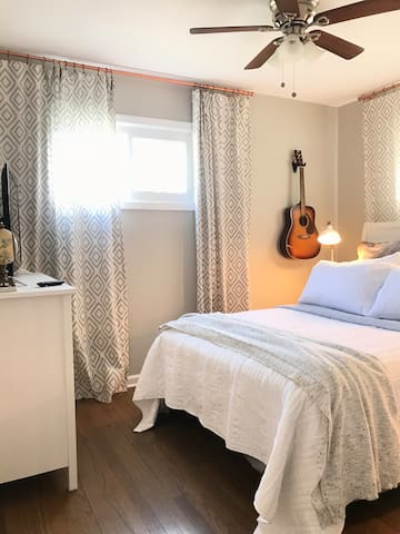 Enjoy our super soft bedding for the perfect night's sleep!  Every room is decorated to help you enjoy your time away.