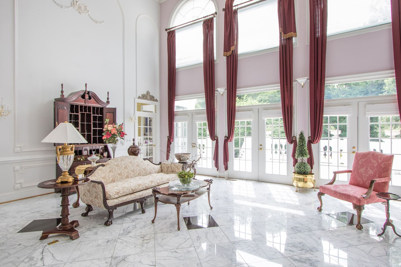 Rosewood Manor Parlor Georgian Parlor Two Story Opens to Large Veranda