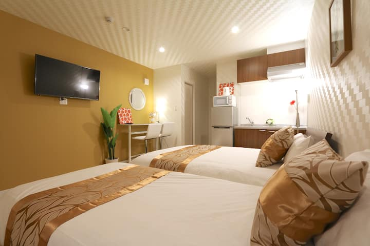 NK1 新建公寓套房,现代风格,时尚设计,宁静舒适,优越位置,直达梅田,天神桥筋商店街