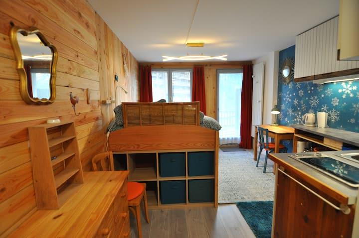 Studio tout joli & rénové à Tignes les Boisses