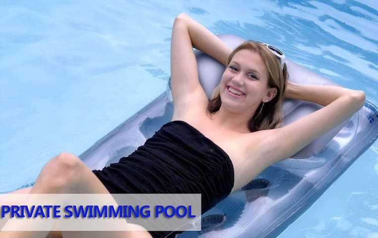 you will enjoy the private swimming pool