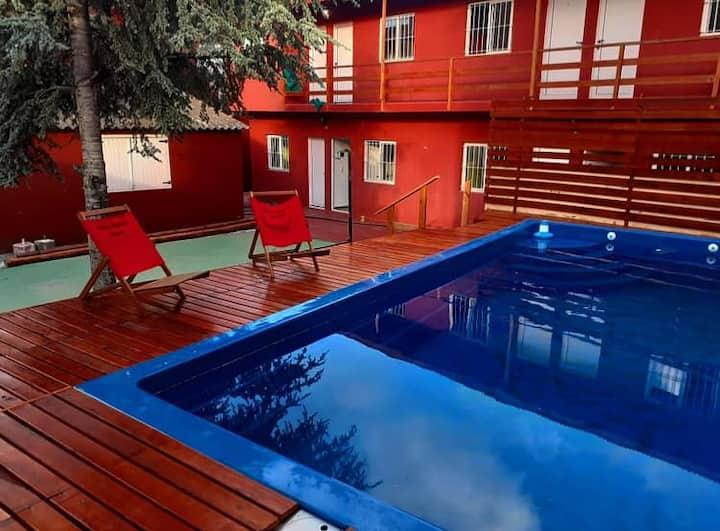 Geniales habitaciones para 3 pers. en Villa Gesell