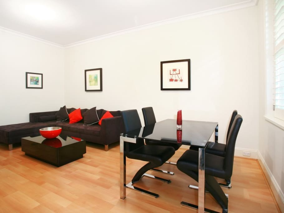 Potts Point executive apartment Dining/Living Room