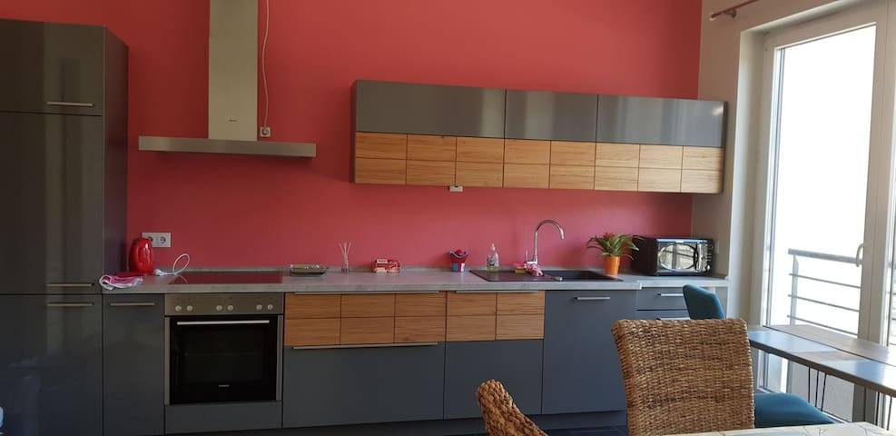 Beautiful flat for four at Esch city centre