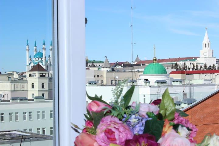 Комфортная двухкомнатная около Кремля видом на все