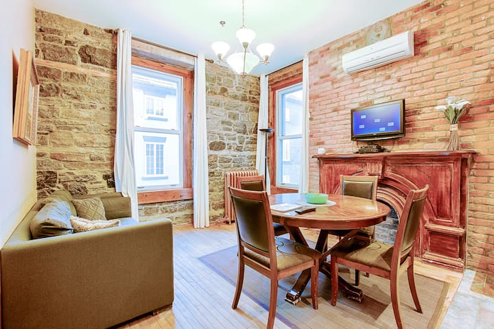 Family apartment downtown Québec with City view