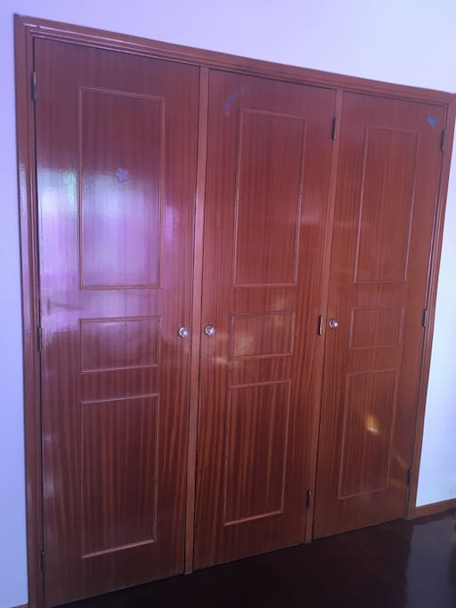 A wardrobe which you can use to put some of your clothes.