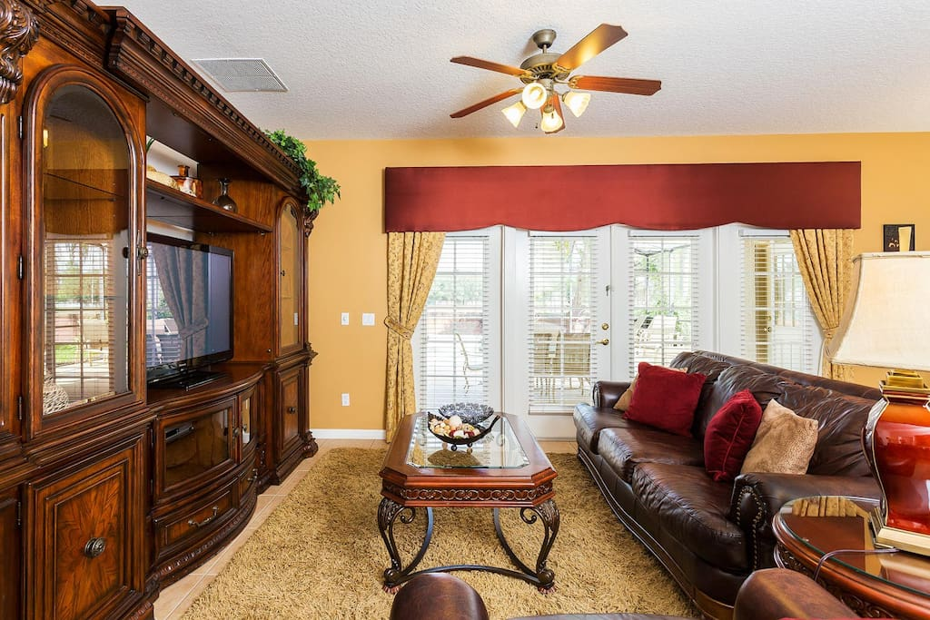 Gather the family in the living area to watch TV or enjoy conversation