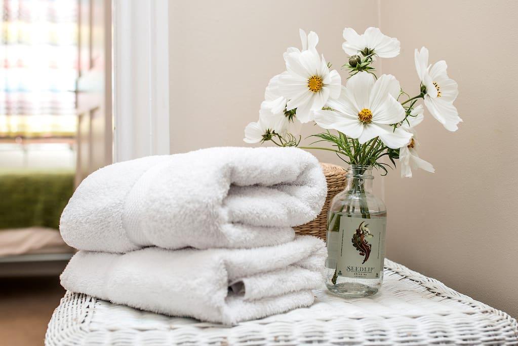 Fluffy towels........