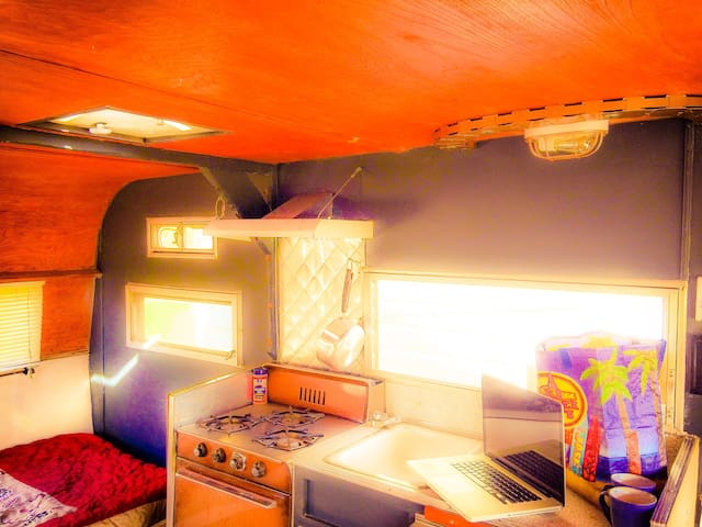 Experience Vintage trailer in a modern Cowboy town