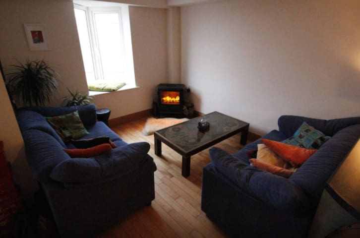 Our lovely sitting room - with electric stove
