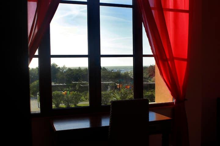 Bright 3 Room Apartment Seaview Near The Beach