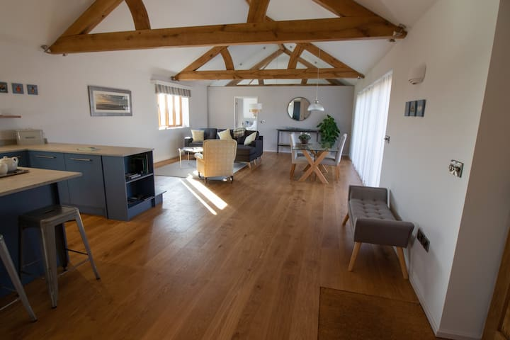 Luxury for two in a single storey barn conversion