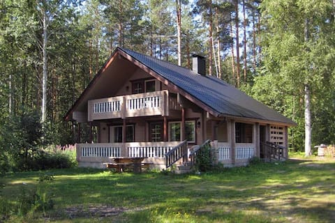Tetrilahti: a log house with a stunning view