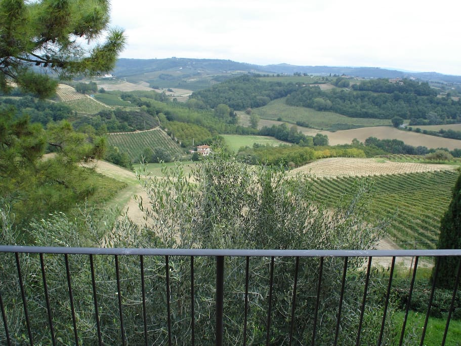 The Chianti hillside changes in color as the sun sets. Great to watch while drinking a glass of local Chianti!