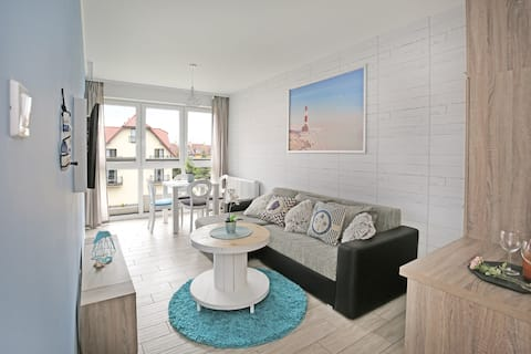 Apartment Turquoise- Your place in heart of Mielno
