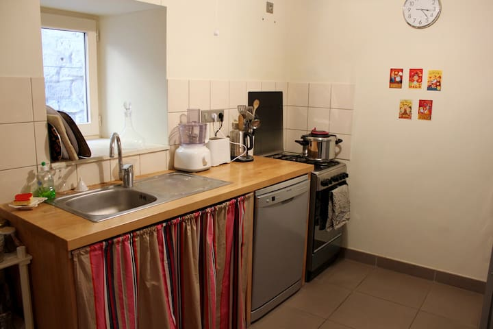 Grand appt, centre Figeac, 4 pers - Figeac - Apartment