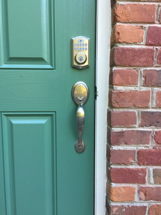 Touchpad lock secures your private entrance.