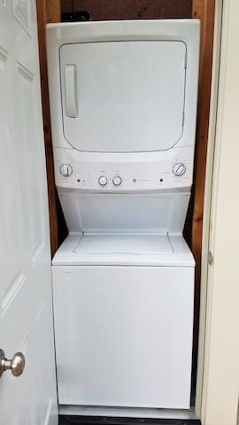 Stackable Laundry Unit in Patio Area- free to use