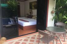 Bedroom mit Terasse