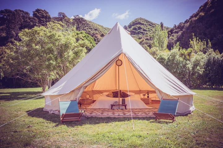 Festival Style Bell Tent - with Resort amenities - Thermal - Yurt